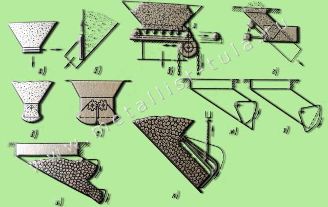 Рисунок 1.5 Схемы бункерных